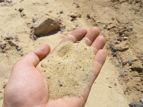Определение фракции песка